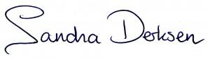 Handtekening Sandra Derksen